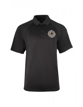 100% Polyester Charcoal Class B Utility Polo - Short Sleeve
