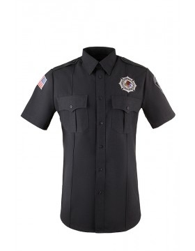 Men's Charcoal Poly/Rayon Short Sleeve Class B Utility Shirt
